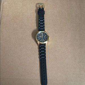 Michael Kors black & gold watch